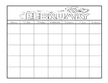 Monthly Calendar Work Booklet