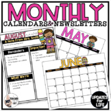 Monthly Calendar and Newsletter BUNDLE - Yearly Updates
