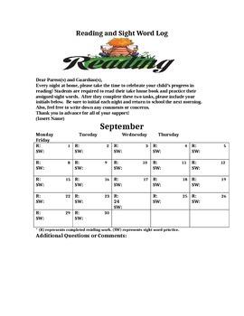Monthly Calendar for Homework Assignments