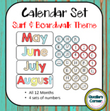 Monthly Calendar in Boardwalk & Surfing Theme
