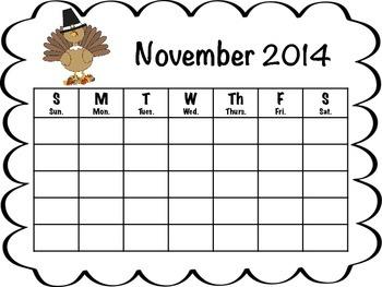 Monthly Calendars 2014 - 2015