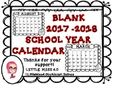 Monthly Calendars 2017-2018
