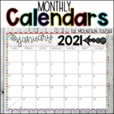 Monthly Calendars 2019-2020