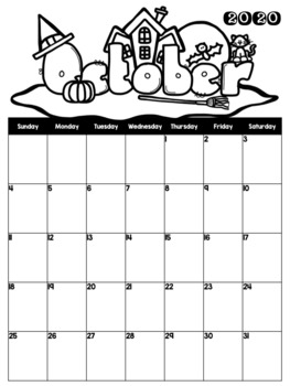 Monthly Calendars Black and White to 2022