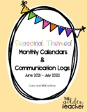 Monthly Calendars & Communication Logs - Seasonal Themed (