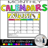 Monthly Calendars *EDITABLE Options, too!