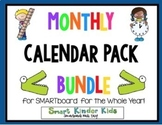 2018-2019 Monthly Calendars for Smartboard - Entire Year BUNDLED