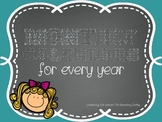 Monthly Calendars for every year!