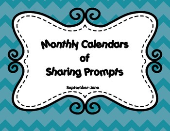 Monthly Calendars of Sharing Prompts