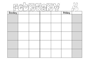 Monthly Calendars with Themed Art