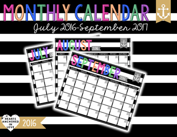 Monthly Calendary 2016-17