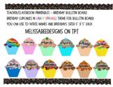 Monthly Candy Sprinke Theme Cupcake Birthday Bulletin Boar
