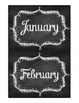 Monthly Chalkboard Storage Labels: organize center activit