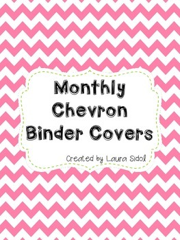 Monthly Chevron Binder Covers