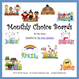 Literacy Choice Boards for Every Month of the School Year
