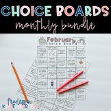 Monthly Choice Boards BUNDLE