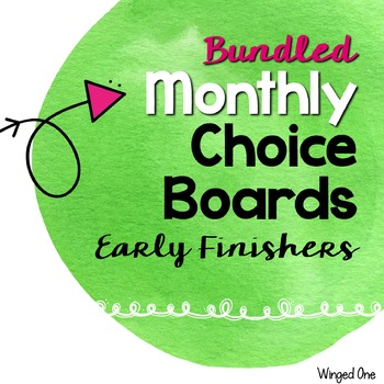Early Finishers Choice Boards