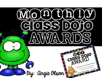 Monthly Class Dojo Certificates