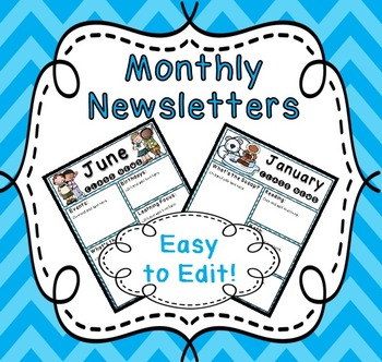 Monthly Class Newsletter