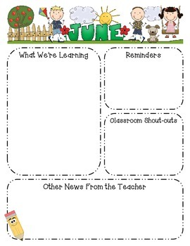 Monthly Class Newsletter Template - Editable