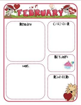 monthly class newsletter templates by mrs ricca 39 s kindergarten tpt. Black Bedroom Furniture Sets. Home Design Ideas