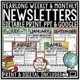 Newsletter Template • Editable Newsletter Template  • Mont
