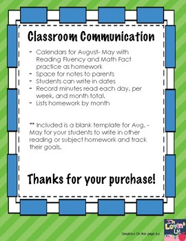 Monthly Classroom Connection with Parents