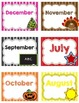 Monthly Classroom Library Labels