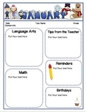Monthly Classroom Newsletters (EDITABLE Color and Black &