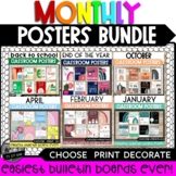 Monthly Classroom Posters II Holiday Posters Bundle