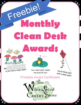 image relating to Printable Awards for Students identified as Every month Refreshing Table Awards Printable Certificates