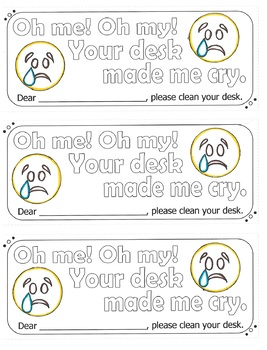 Monthly Clean Desk Awards  Printable Certificates