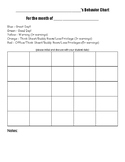 Monthly Color System Behavior Tracker