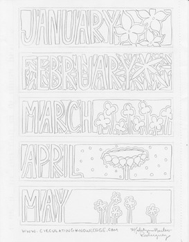 Monthly Color-Your-Own Bookmarks