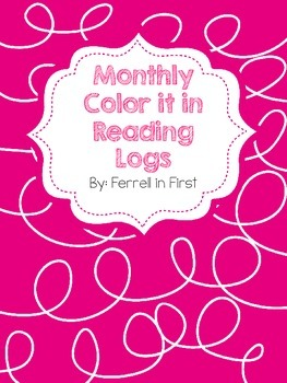 Monthly Color it in Reading Logs