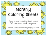 Monthly Coloring Pages