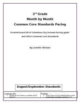 Standards Pacing Guide Worksheets & Teaching Resources | TpT