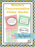 Monthly Communication Binder