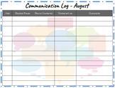 Monthly Communication Log