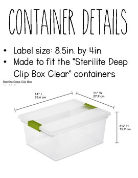Monthly Container Labels - Rae Dunn Inspired