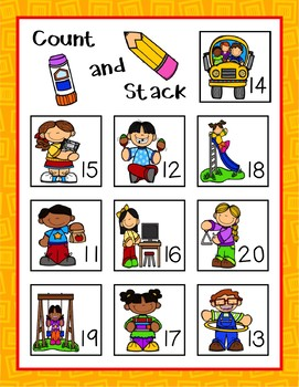 Monthly Count and Stack Math Mats