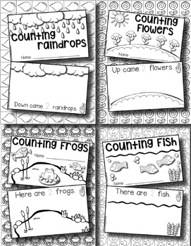 Interactive Counting Books --- Monthly Counting Books for Numbers 1-10