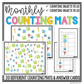 Counting Mats- Counting Objects to 10 and 20