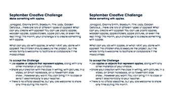 Monthly Creative Challenges