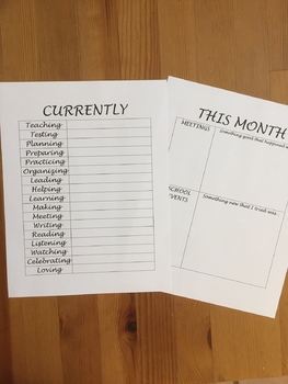 Monthly Currently Page for Teacher Planners (Happy Planners)