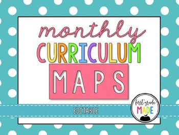 Curriculum map editable teaching resources teachers pay teachers monthly curriculum map editable monthly curriculum map editable fandeluxe