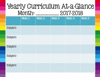 editable curriculum map free by a modern teacher tpt. Black Bedroom Furniture Sets. Home Design Ideas