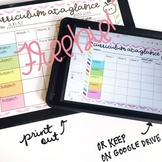 Editable Curriculum Map FREE