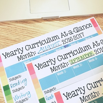 Editable Free Download Monthly Curriculum Overviews