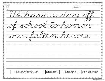 Monthly Cursive Copywork Bundle - Handwriting Practice